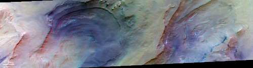 Layered depressions – 3D | by europeanspaceagency