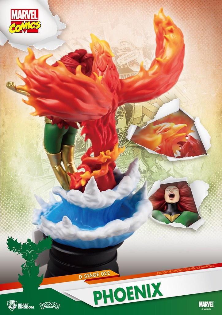 鳳凰之力大爆發! 野獸國 夢-精選 系列 Marvel Comics【火鳳凰】Phoenix D-Select-022 全身場景雕像作品