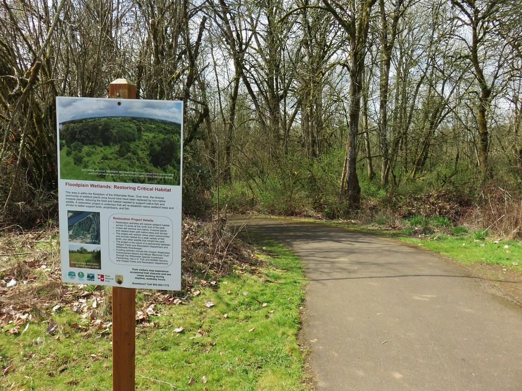 Bike path in Willamette Mission State Park
