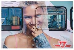 woman on the streetcar