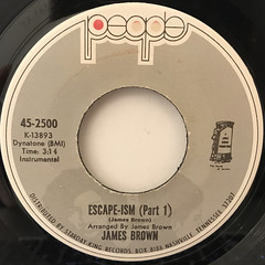 JAMES BROWN:ESCAPE-ISM(LABEL SIDE-A)