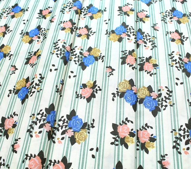Birch Fabrics Pirouette Rosette Stripes