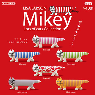 【官圖&販售資訊更新】海洋堂《膠囊Q博物館》『麗莎・拉爾森』作品轉蛋「第2.5彈」情報公開!カプセルQミュージアム「リサ・ラーソン Mikey Lots cats Collection」