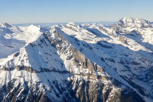 Grand Chavalard Grand Muveran panoramic Swiss Alps Switzerland
