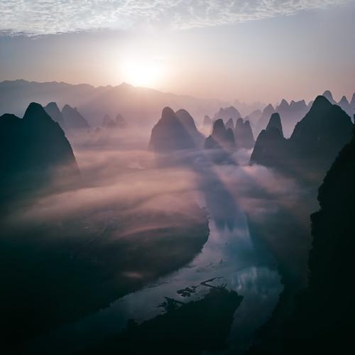Sunrise at Xianggongshan