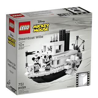 超可愛汽船即將入港!而且米妮也來囉~ LEGO 21317 Ideas 系列【汽船威利號】Steamboat Willie