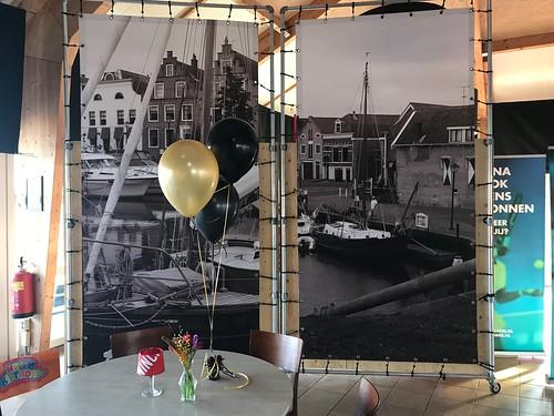 Tafeldecoratie 3ballonnen Tennisvereniging TVO Oud Beijerland