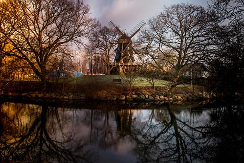 mill malmö citypark mölla sweden väderkvarn morninglight slottsparken winter skånelän sverige se