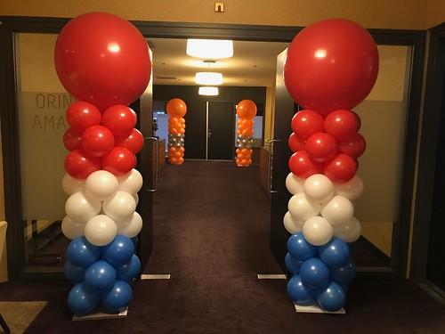Ballonpilaar Breed Rond van der Valk Ridderkerk
