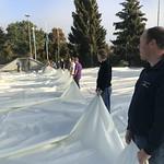 2018, Oktober - Aufstellen Traglufthalle