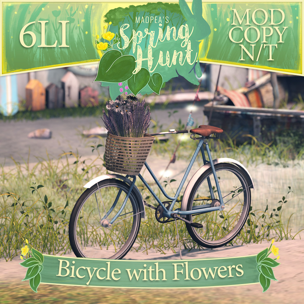 MadPea Spring Hunt - Bicycle with Flowers! - TeleportHub.com Live!