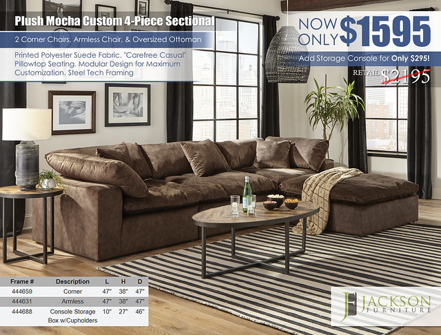 Plush Mocha Custom Sectional Jackson Furniture_4446_ju1608