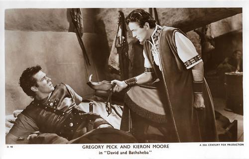 Gregory Peck and Kieron Moore in David and Bathsheba (1951)