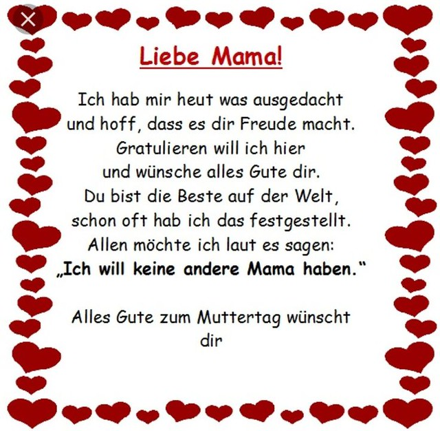Muttertagsgedicht #muttertag #kindergarten #mama #kinder #gedicht