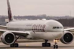 A7-BEP Qatar Airways Boeing 777-3DZ(ER) @ Frankfurt Rhein-Main International (FRA / EDDF) / 30.12.2018