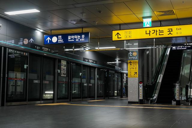 경의중앙선 효창공원앞역 승강장