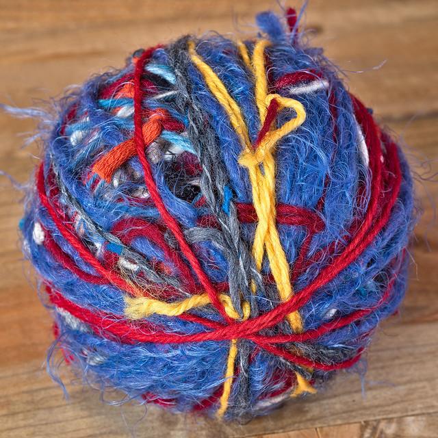 Scrap yarn ball