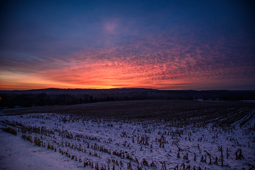 sunrise dawn morning cold winter color knickerbocker farm pittsford upstate ny new york nikon z 6 z6 sky clouds field