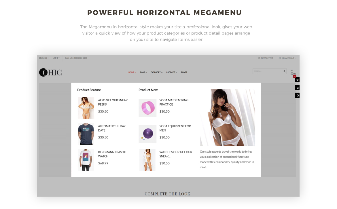 powerful mega menu- Leo Chic - Women Fashion and Lingerie Store