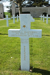 Grave of Private Robert Lester Blackwell recipient of the Congressional Medal of Honor Somme American Cemetery Bony Picardy France