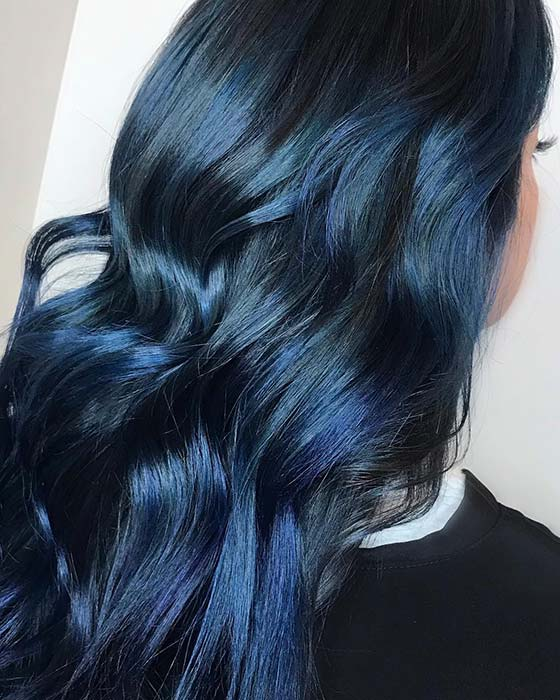 22 Fabulous Blue Black Hair Color Ideas In 2019 Style2 T