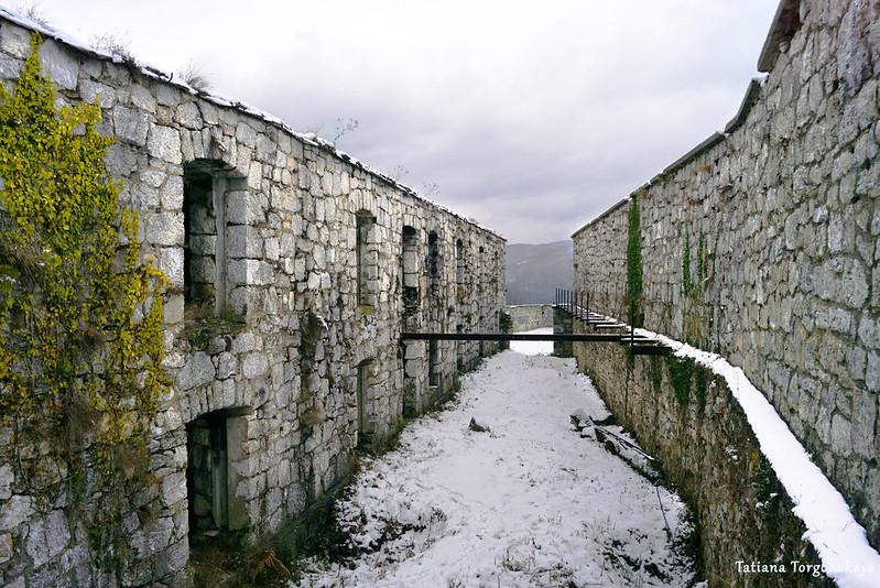 Основное здание и высокая крепостная стена