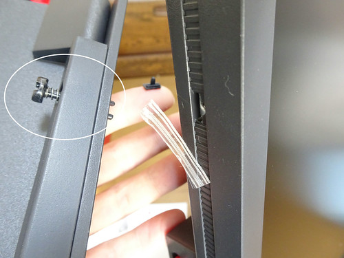BenQ XL2546 240Hz ゲーミングディスプレイ ネジをはめない