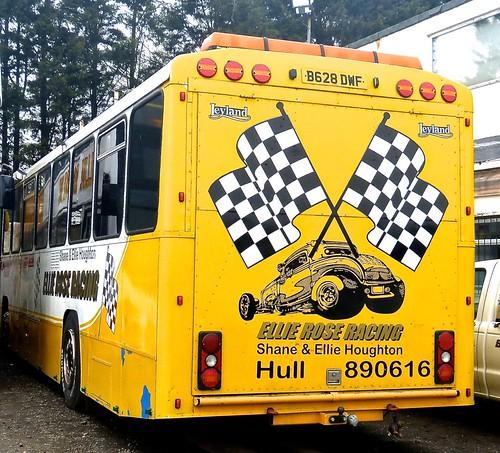 B628 DWF ', 'Ellie Rose UK'., 'Ellie Rose Racing'. Leyland Tiger / Alexander 'P' type on Dennis Basford's railsroadsrunways.blogspot.co.uk'