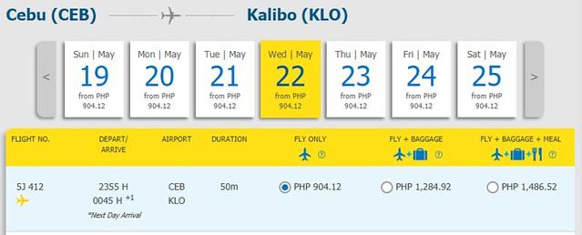 Cebu Pacific Promo Cebu to Kalibo
