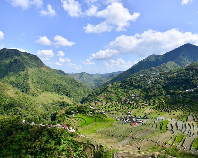 Vistas desde el mejor mirador de Batad a los arrozales