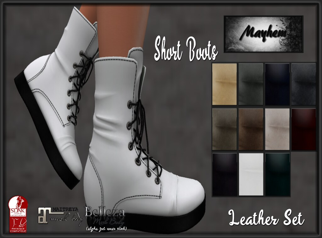 Mayhem Short Boots Leather Set - TeleportHub.com Live!