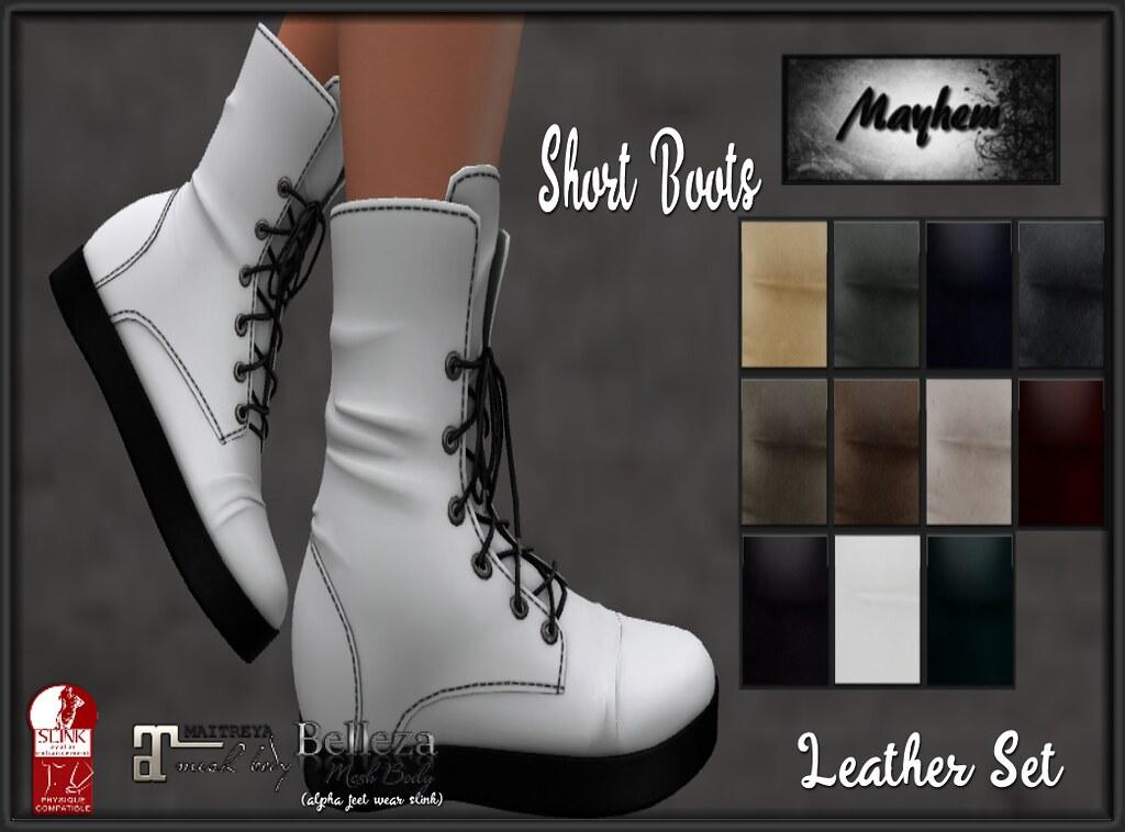 Mayhem Short Boots Leather Set