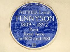 GOC London Public Art 2 094: Alfred, Lord Tennyson plaque