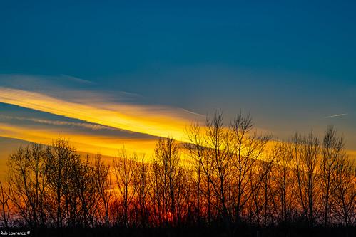 Sunset 16:59hrs 23/03/2019 Border with Hungary-Austria @ Nicklesdorf.