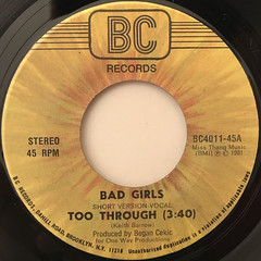 TOO THROUGH:BAD GIRLS(LABEL SIDE-A)