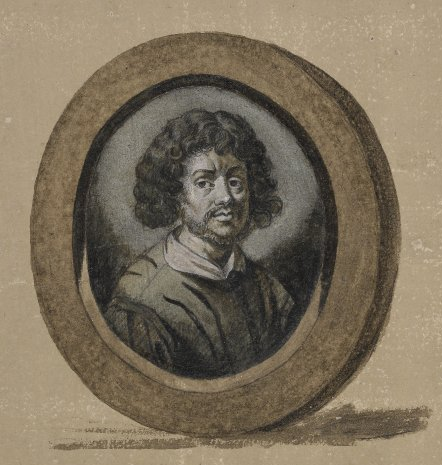Claude Gellée, le Lorrain, perhaps a self-portrait, after Sandrart. Frontispiece to the Liber Veritatis.