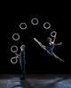 Foto Kate Byrne & Owen Reynolds from Gandini Juggling 4x4 Ephemeral Architectures - campiagn image shoot at Dehavilland studios, London on March 29, 2015. Photo: Arnaud Stephenson