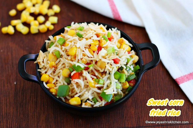 Sweet corn fried rice