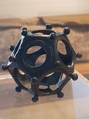Third century bronze dodecahedron. Eighty are known in the whole Empire, mainly from northern Europe. Use unknown.