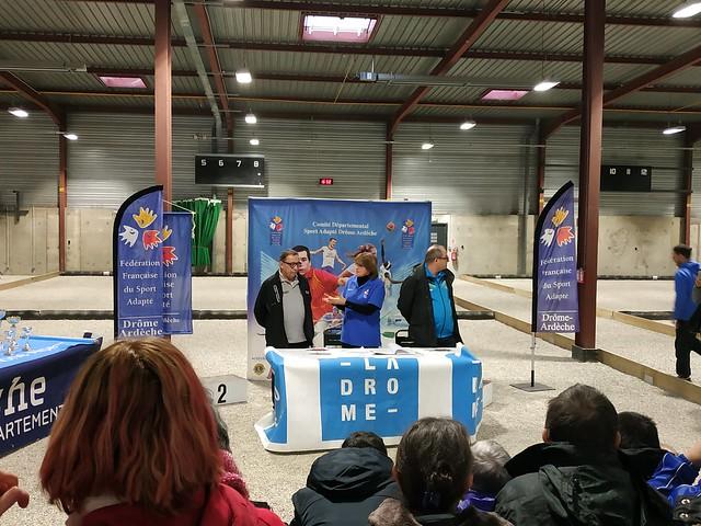 Championnat Régional de Pétanque Sport Adapté - zone Alpes-Dauphiné - Valence (26) - 2 février 2019