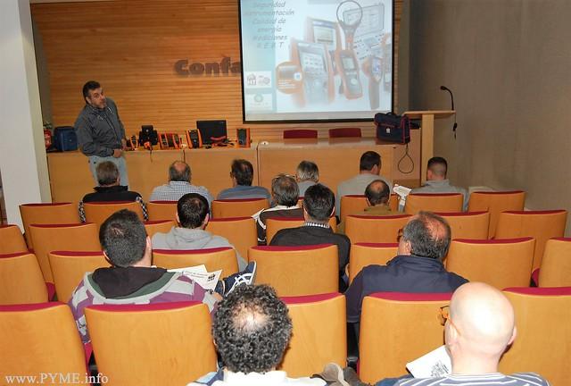 Instantánea de la jornada organizada por AESLUX Seguridad, Instrumentación, Mediciones REBT y calidad de la energía.