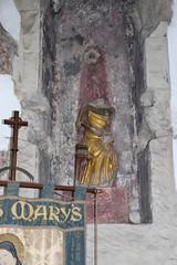 headless St Anne in a niche (both 15th Century)