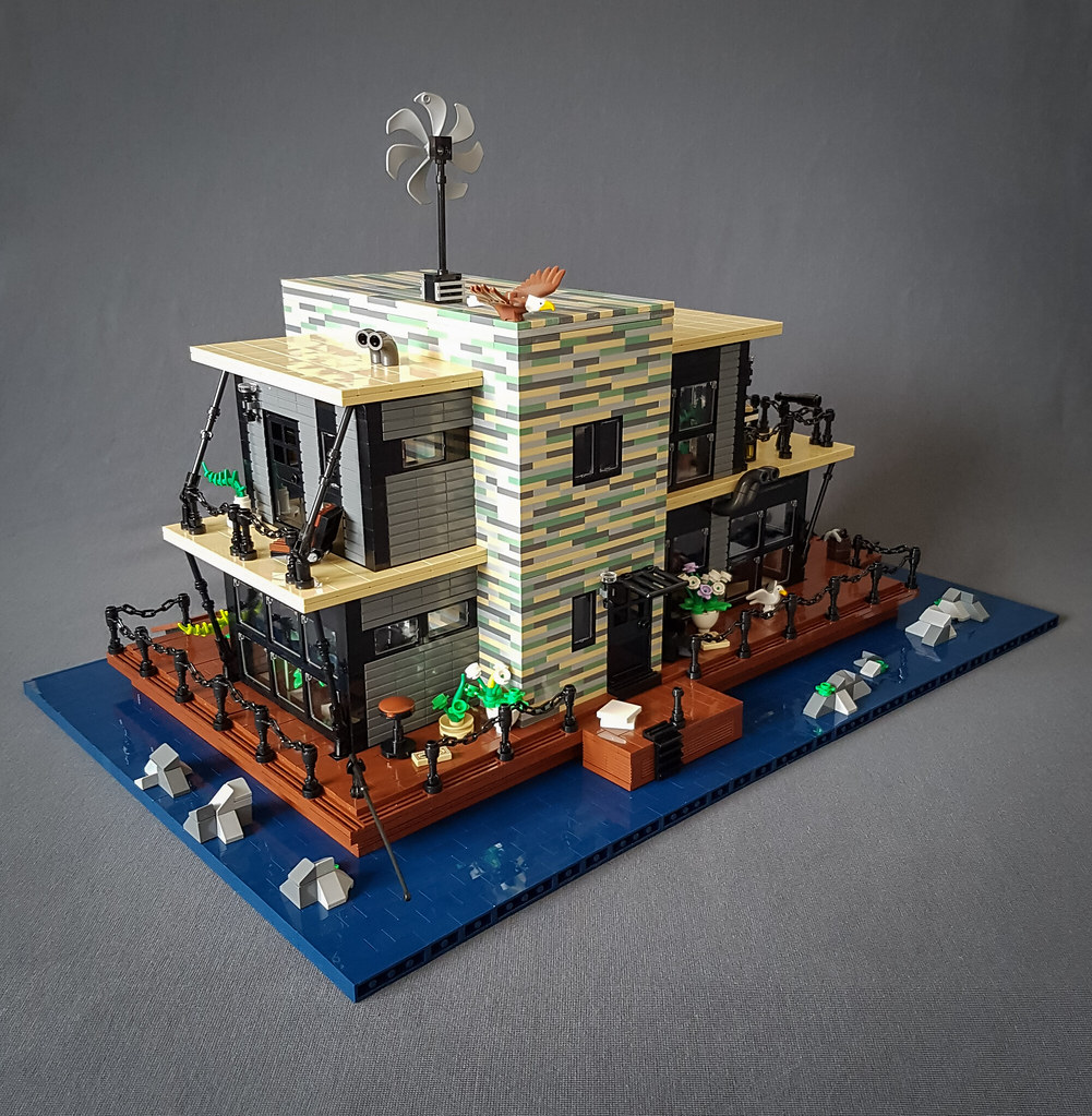 Shallow-Water House MOC. Fishing and bathing side.