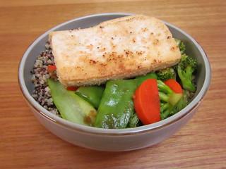 Cashew-Crusted Tofu Stir-Fry
