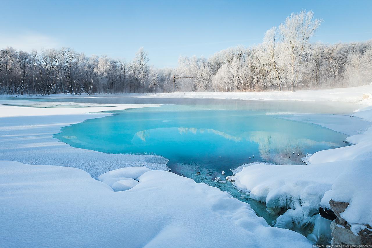 Серное озеро зимой (Самарская область, Сергиевский район)
