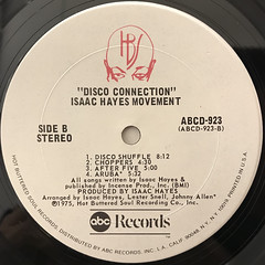 ISAAC HAYES MOVEMENT:DISCO CONNECTION(LABEL SIDE-B)