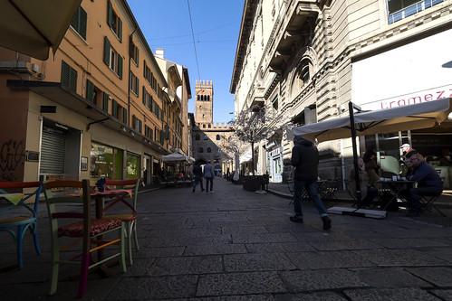 Bologna (Italy) - Via degli Orefici (la strada del jazz)