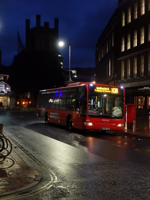 Reading's Buses at Night