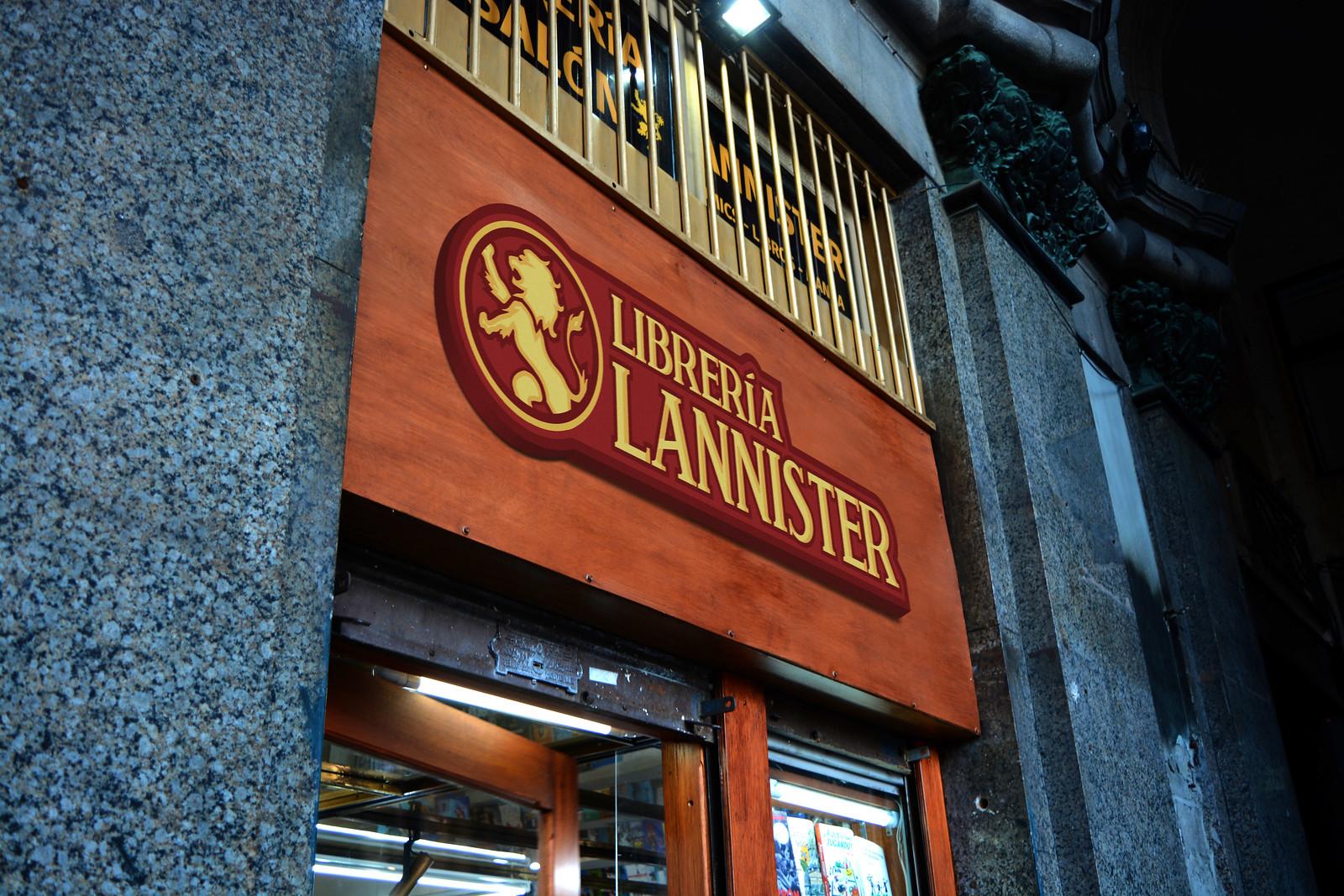 Recreación 19 - Librería Lannister, proyecto de Ignacio Pérez, de la Licenciatura en Diseño Gráfico.