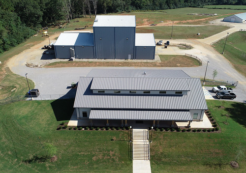 Aerial photograph of the Charles C. Miller Jr. Poultry Research and Education Center